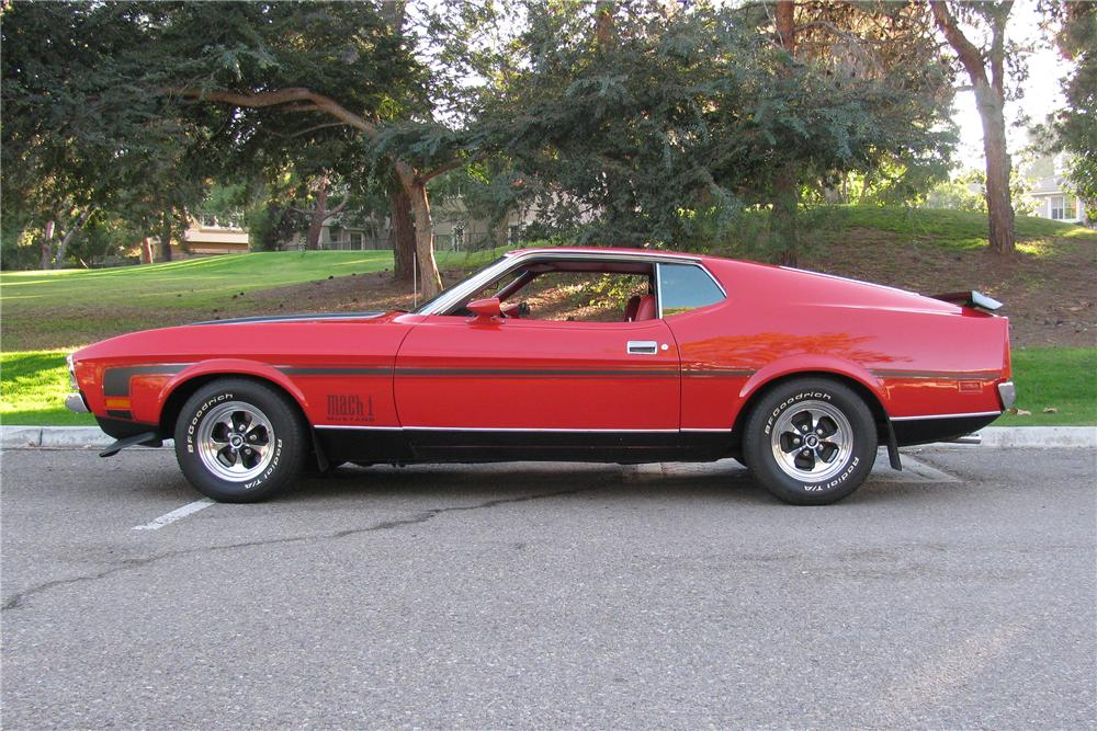 1972 FORD MUSTANG MACH 1 FASTBACK - Side Profile - 137809