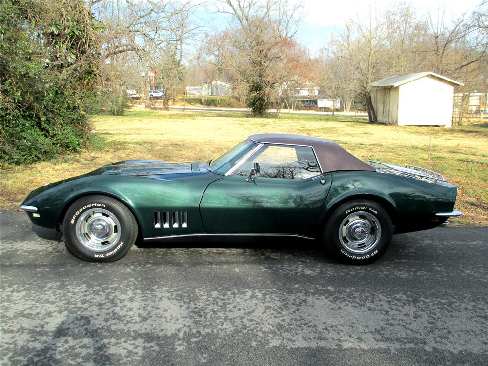 1968 CHEVROLET CORVETTE CONVERTIBLE - Front 3/4 - 137810