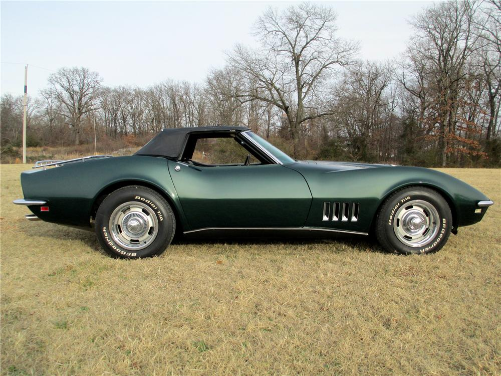 1968 CHEVROLET CORVETTE CONVERTIBLE - Side Profile - 137810