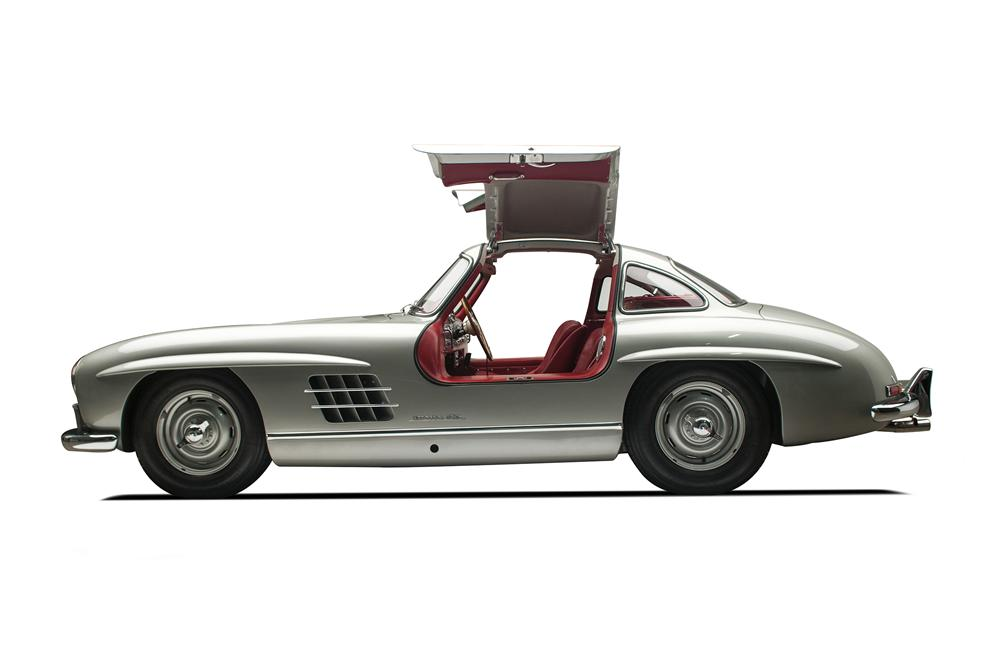 1955 mercedes benz 300sl gullwing coupe side profile 137813