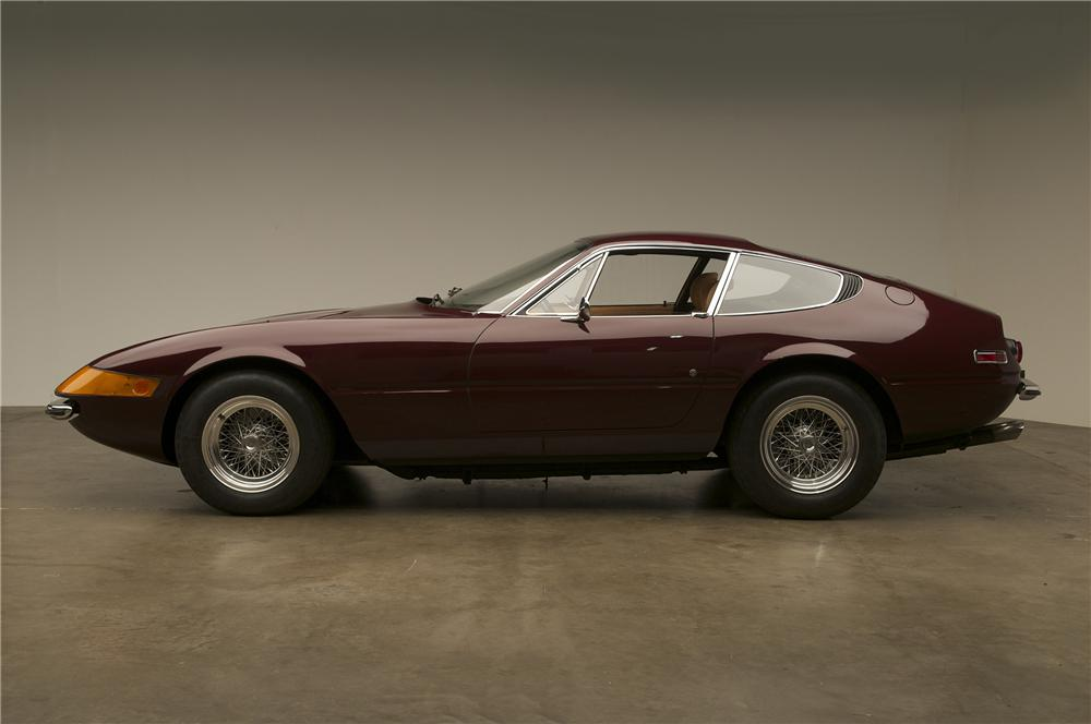 1972 FERRARI 365 GTB/4 DAYTONA 2 DOOR COUPE - Side Profile - 137816