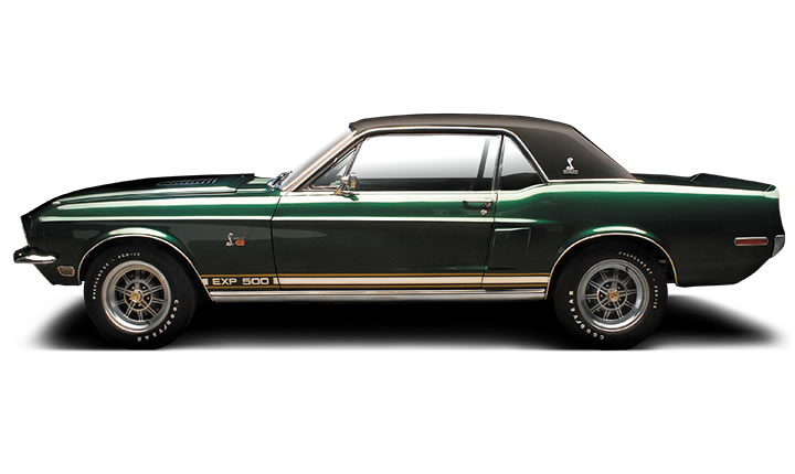"1968 SHELBY EXP 500 ""THE GREEN HORNET"" - Side Profile - 137819"
