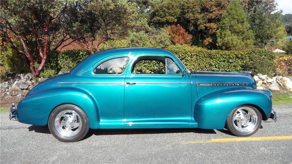 1941 CHEVROLET CUSTOM 2 DOOR COUPE - Side Profile - 137822