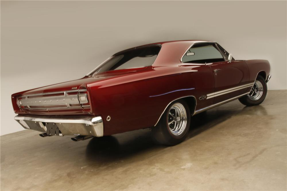 1968 PLYMOUTH HEMI GTX 2 DOOR HARDTOP - Rear 3/4 - 137826