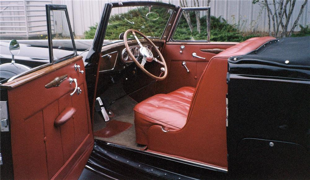 1937 PACKARD SUPER 8 CONVERTIBLE - Interior - 137843