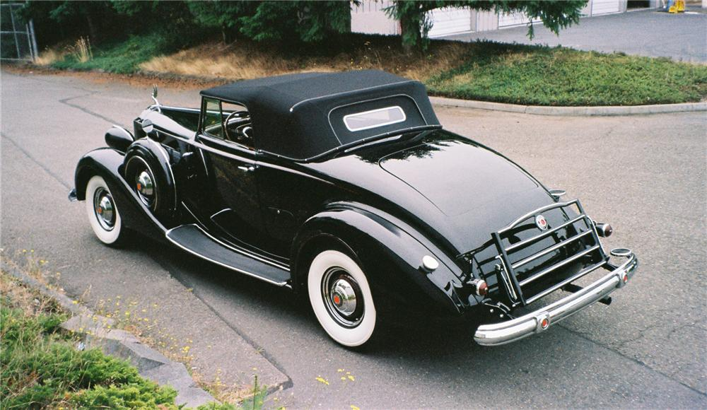1937 PACKARD SUPER 8 CONVERTIBLE - Rear 3/4 - 137843