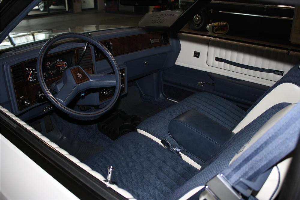 1983 CHEVROLET MONTE CARLO SS 2 DOOR COUPE - Interior - 137846