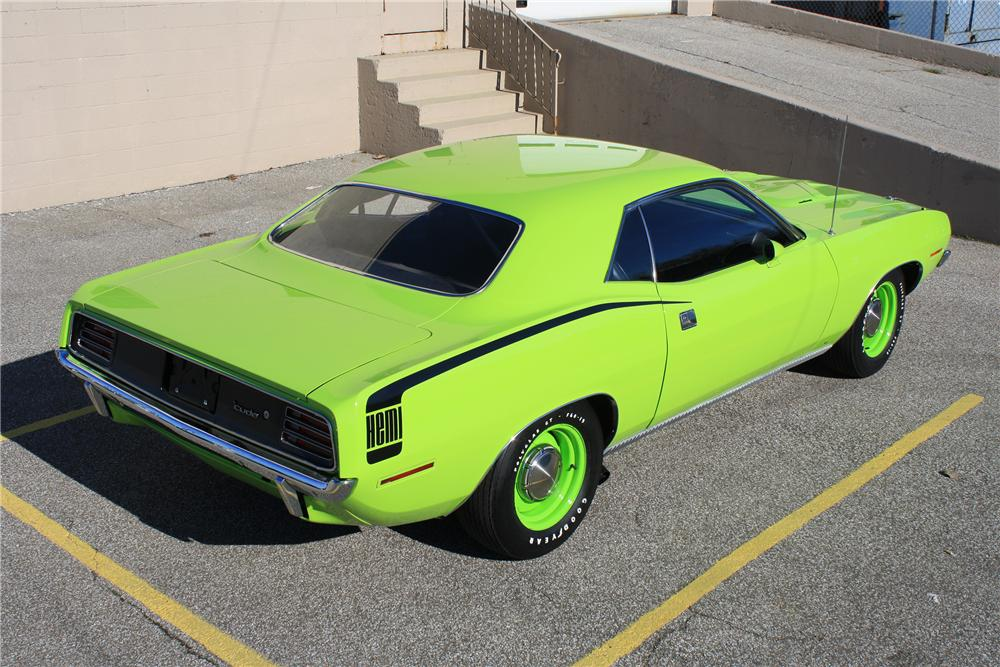 1970 PLYMOUTH BARRACUDA HEMI CUDA RE-CREATION - Rear 3/4 - 137848
