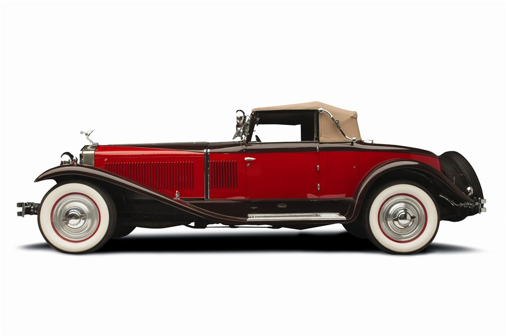 1929 ISOTTA FRASCHINI TIPO 8A SS CASTAGNA ROADSTER - Side Profile - 137877