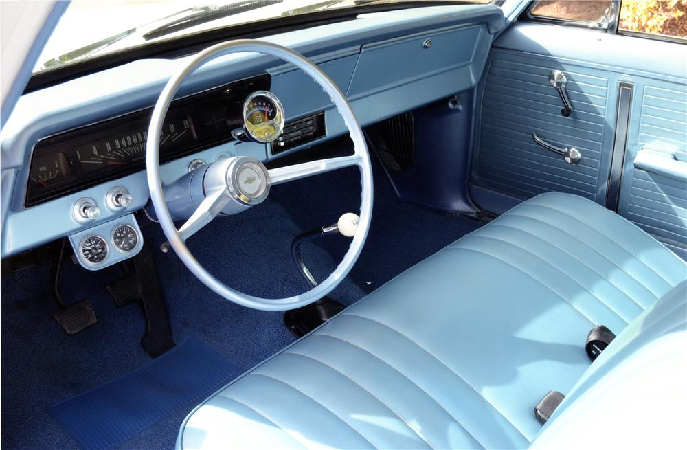 1966 CHEVROLET NOVA 2 DOOR SEDAN - Interior - 137891