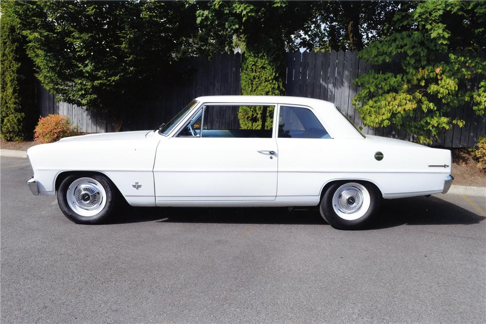 1966 CHEVROLET NOVA 2 DOOR SEDAN - Side Profile - 137891