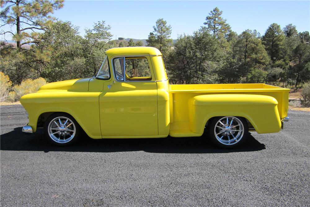 1957 GMC 1500 CUSTOM STEPSIDE PICKUP - Side Profile - 137926