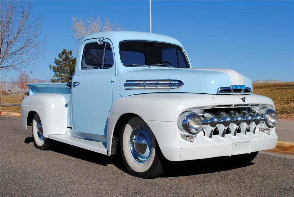 1951 FORD F-3 CUSTOM PICKUP - Front 3/4 - 137928