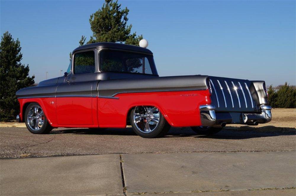 1955 CHEVROLET CAMEO CUSTOM PICKUP - Rear 3/4 - 137933