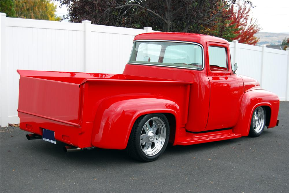 1956 FORD F-100 CUSTOM PICKUP - Rear 3/4 - 137946