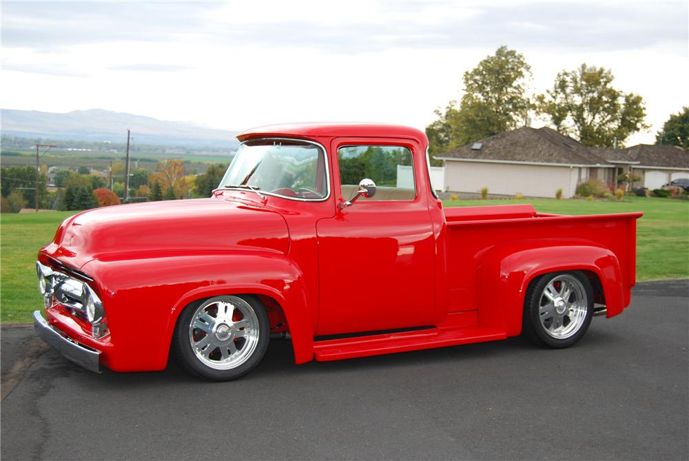 1956 FORD F-100 CUSTOM PICKUP - Side Profile - 137946