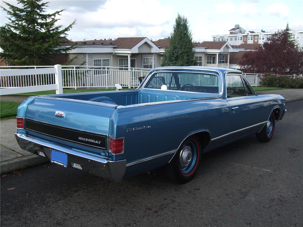1967 CHEVROLET EL CAMINO PICKUP - Rear 3/4 - 137950
