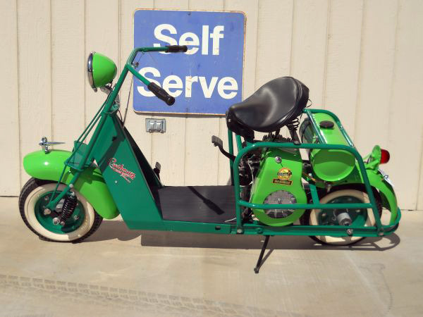 1943 CUSHMAN CUSTOM AIRBORN SCOOTER - Side Profile - 137959