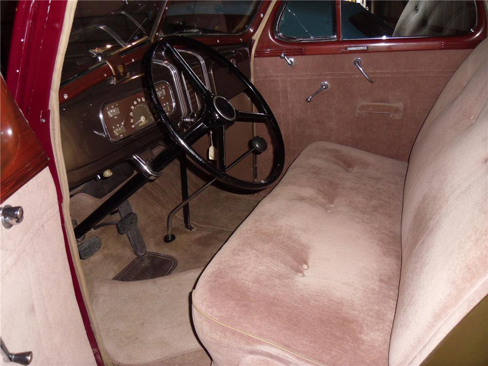 1937 CHEVROLET MASTER DELUXE 2 DOOR COUPE - Interior - 137960