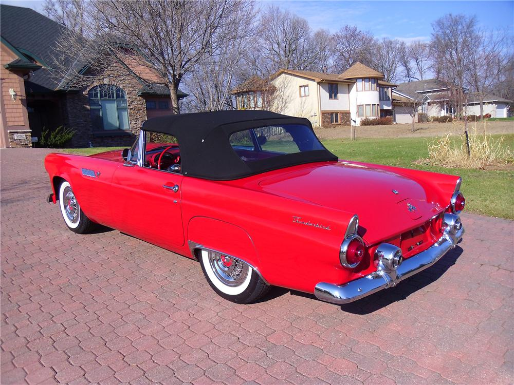 1955 FORD THUNDERBIRD CONVERTIBLE - Rear 3/4 - 137965
