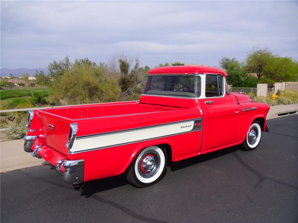 1957 CHEVROLET CAMEO CUSTOM PICKUP - Rear 3/4 - 137972