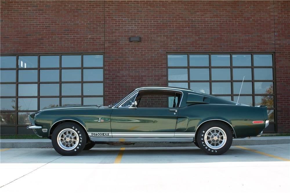 1968 SHELBY GT500 KR FASTBACK - Side Profile - 137975