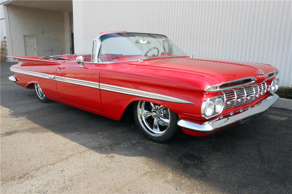 1959 CHEVROLET IMPALA CUSTOM CONVERTIBLE - Front 3/4 - 137978