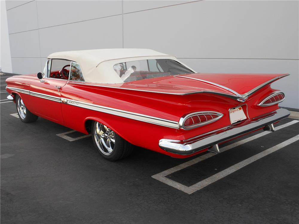 1959 CHEVROLET IMPALA CUSTOM CONVERTIBLE - Rear 3/4 - 137978