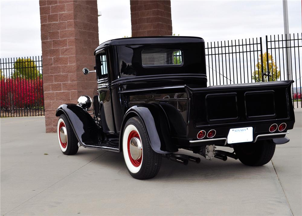 1932 FORD MODEL A CUSTOM PICKUP - Rear 3/4 - 137980