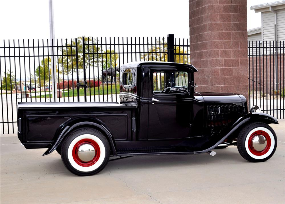 1932 FORD MODEL A CUSTOM PICKUP - Side Profile - 137980