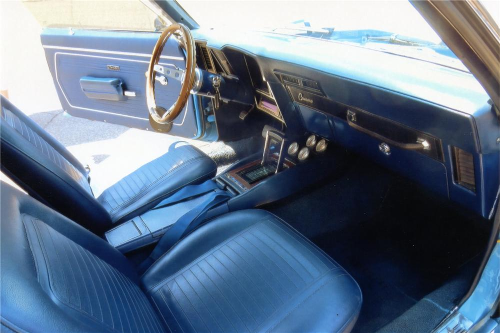1969 CHEVROLET CAMARO CUSTOM CONVERTIBLE - Interior - 137981