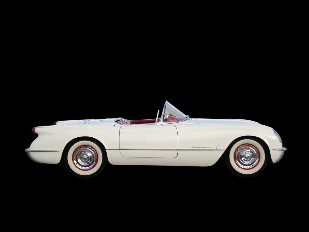 1954 CHEVROLET CORVETTE CONVERTIBLE - Side Profile - 137994