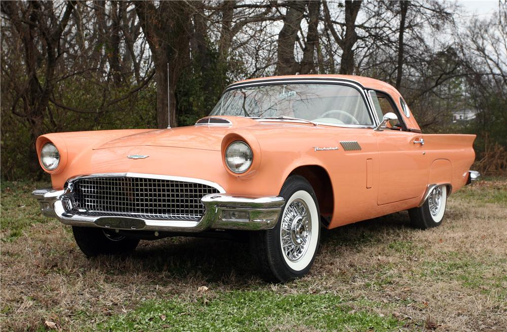 1957 FORD THUNDERBIRD CONVERTIBLE - Front 3/4 - 138000