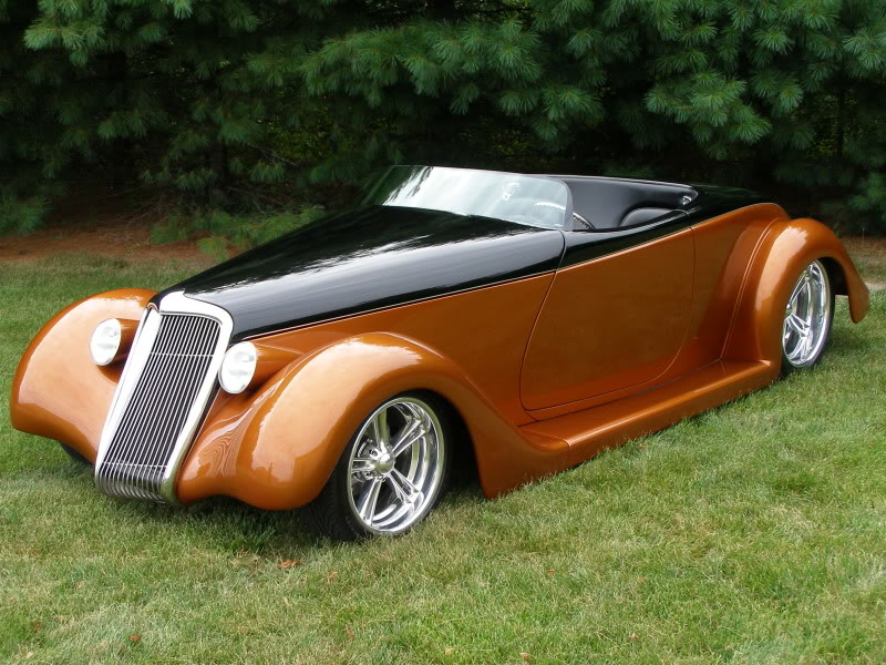1935 FORD CUSTOM ROADSTER - Side Profile - 138006