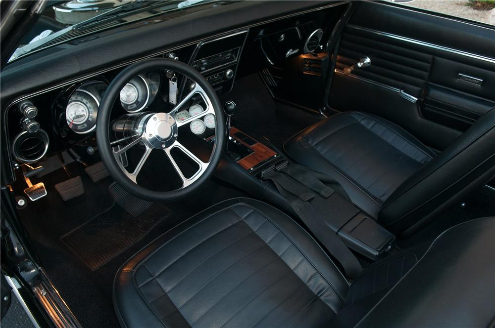 1968 CHEVROLET CAMARO CUSTOM CONVERTIBLE - Interior - 138009