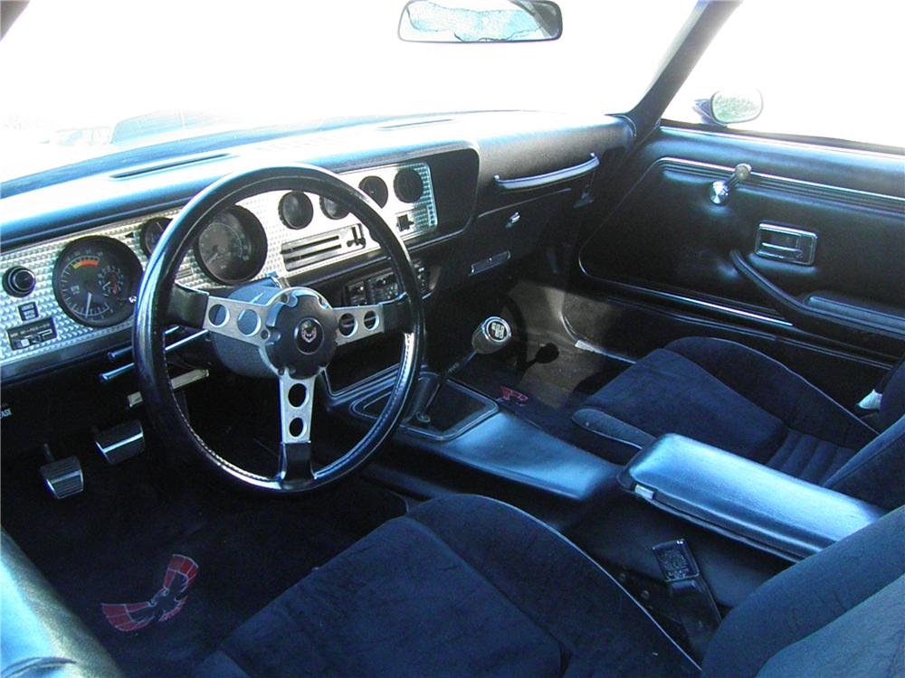 1978 PONTIAC FIREBIRD TRANS AM 2 DOOR COUPE - Interior - 138012