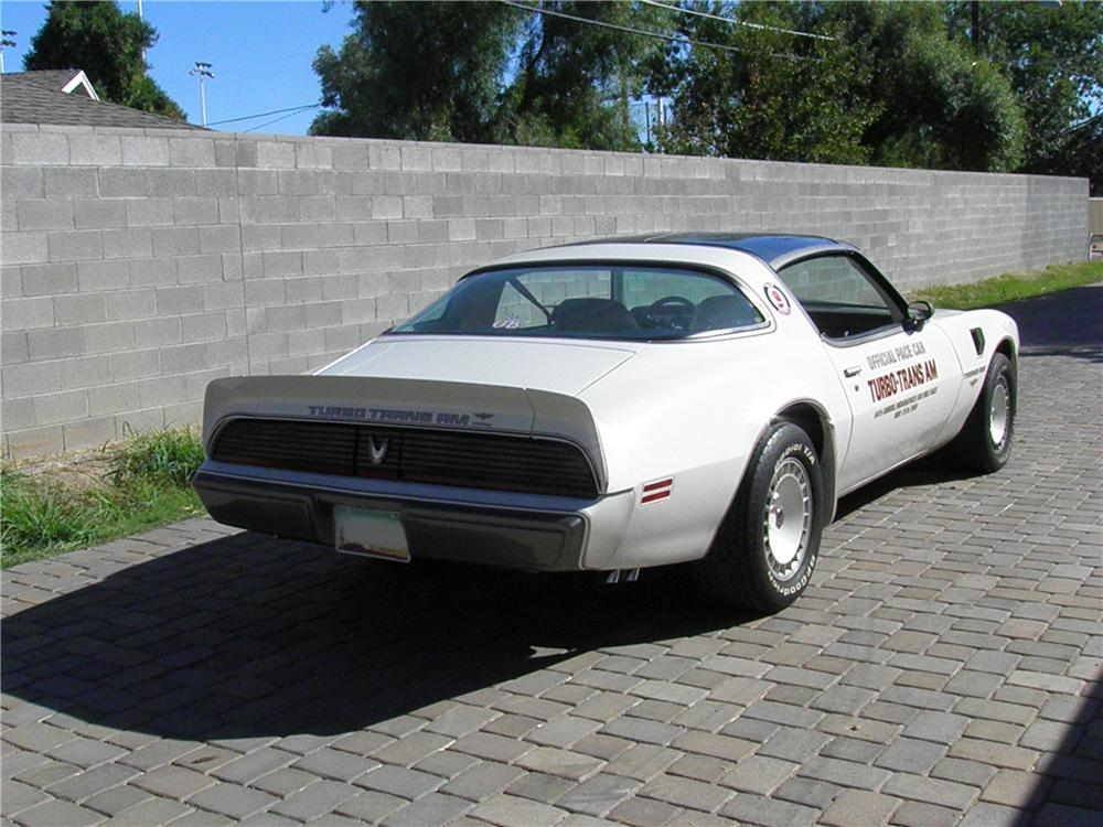1980 PONTIAC FIREBIRD TRANS AM PACE CAR EDITION - Rear 3/4 - 138013