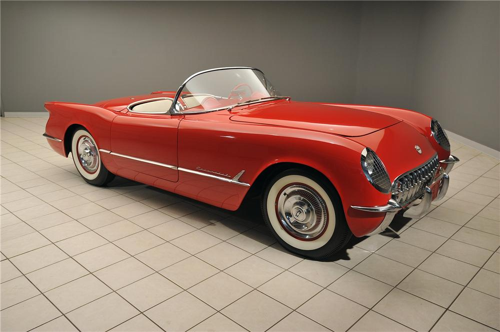 1955 CHEVROLET CORVETTE CONVERTIBLE - Front 3/4 - 138019