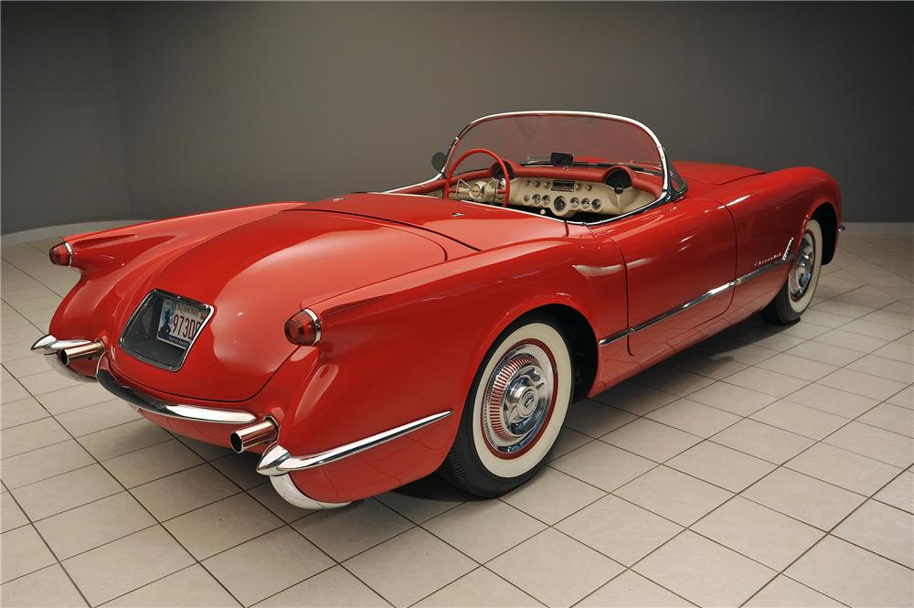1955 CHEVROLET CORVETTE CONVERTIBLE - Rear 3/4 - 138019