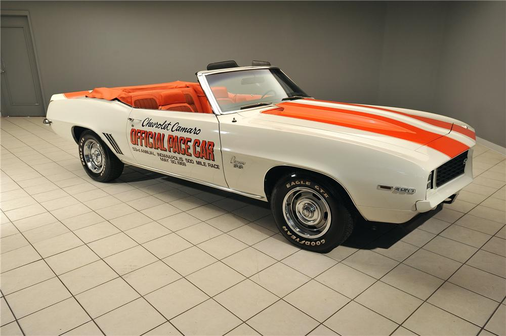 1969 CHEVROLET CAMARO INDY PACE CAR CONVERTIBLE - Front 3/4 - 138048