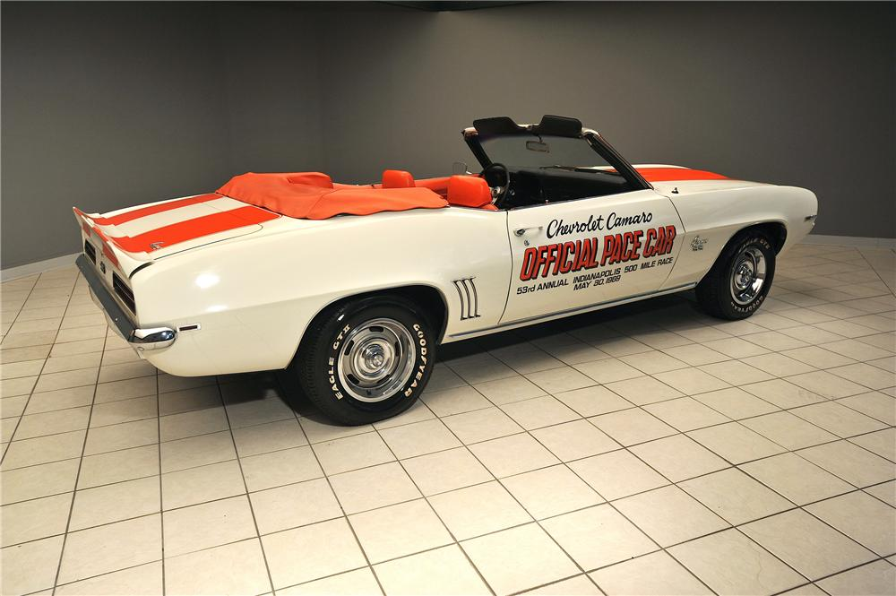 1969 CHEVROLET CAMARO INDY PACE CAR CONVERTIBLE - Rear 3/4 - 138048