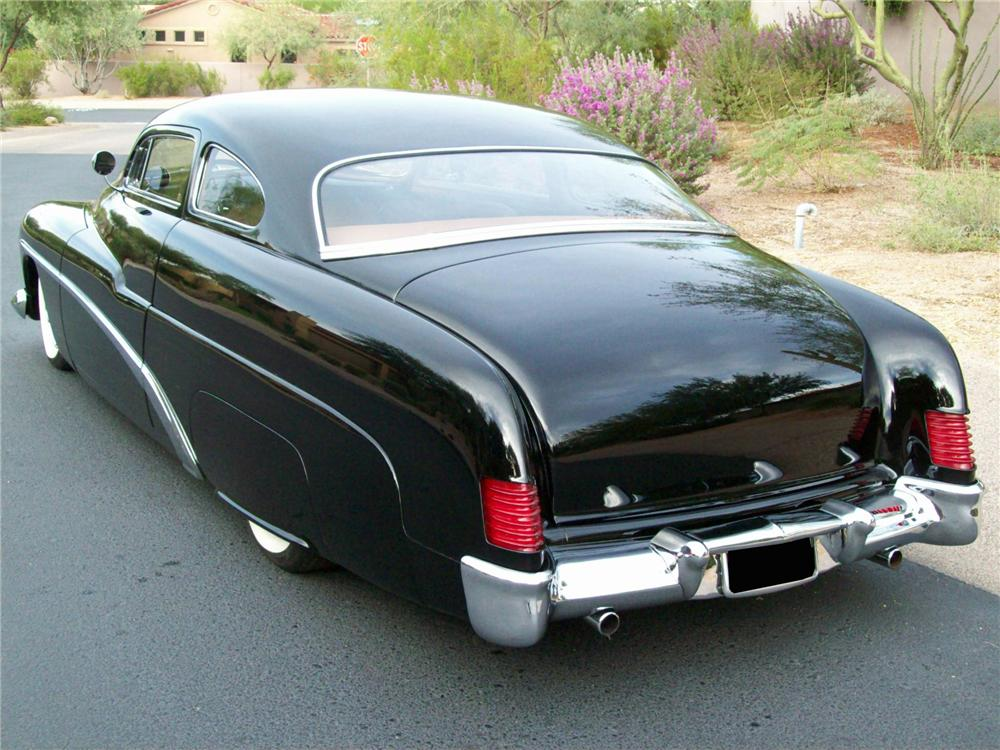 1951 MERCURY 2 DOOR CUSTOM COUPE - Rear 3/4 - 138049