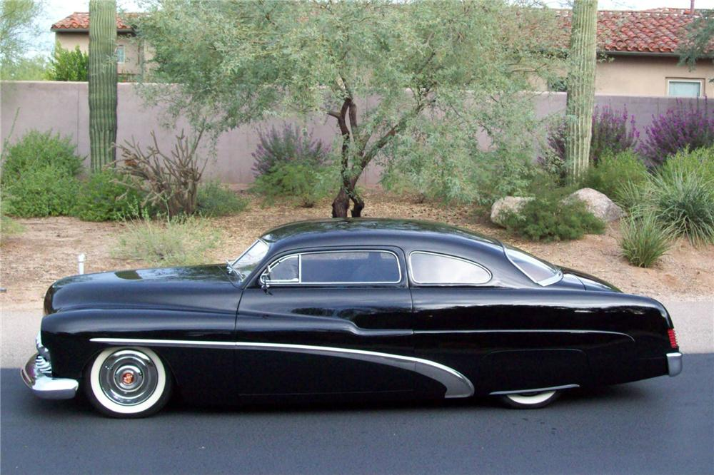 1951 MERCURY 2 DOOR CUSTOM COUPE - Side Profile - 138049