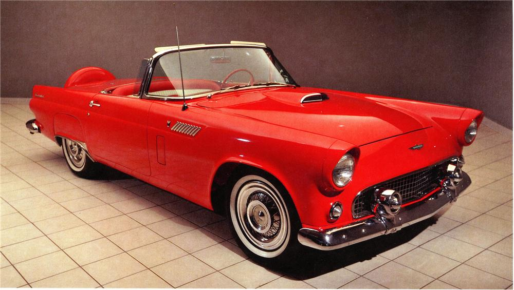 1956 FORD THUNDERBIRD CONVERTIBLE - Front 3/4 - 138050
