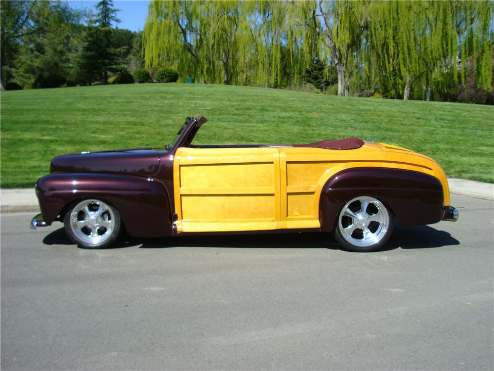 1947 FORD SPORTSMAN CUSTOM WOODY CONVERTIBLE - Front 3/4 - 138054