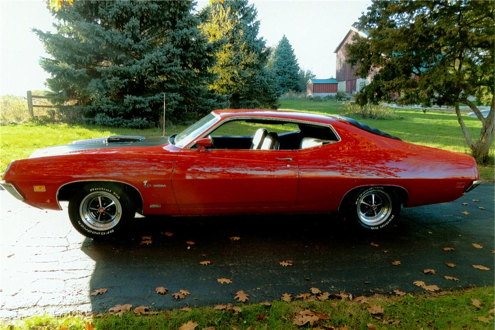 1970 FORD TORINO COBRA SCJ FASTBACK - Side Profile - 138059
