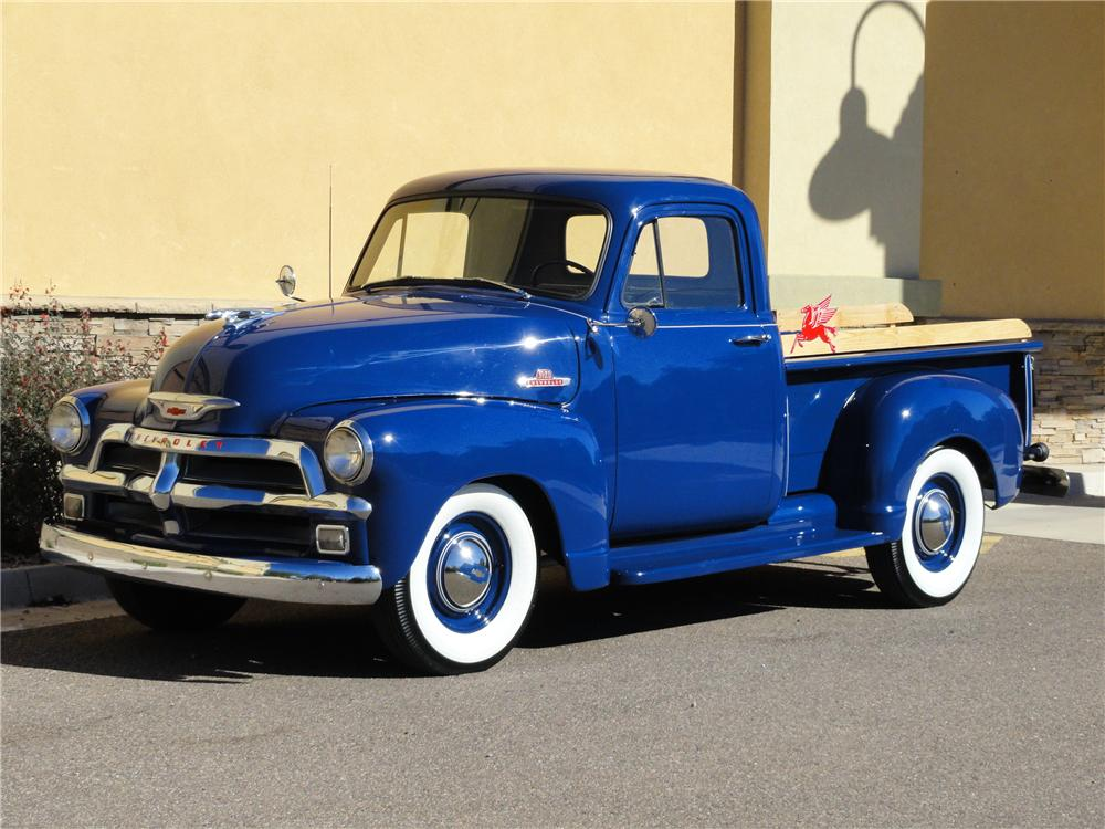 1955 CHEVROLET 3100 PICKUP - Front 3/4 - 138079