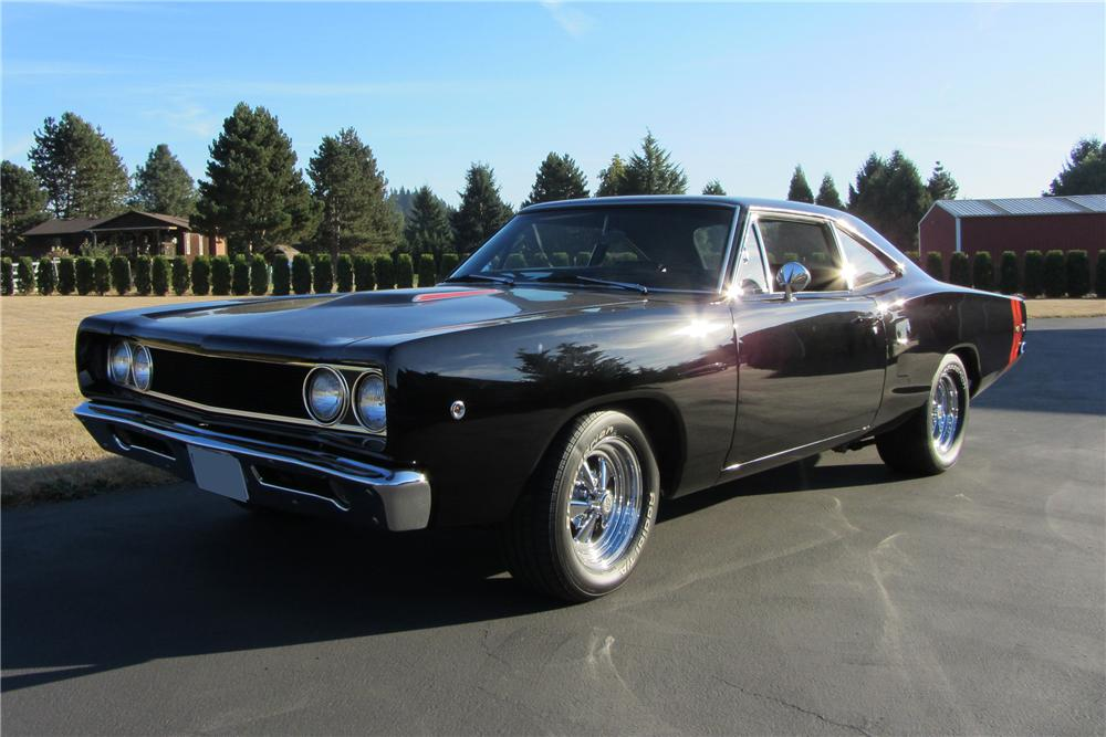 1968 DODGE CORONET CUSTOM 2 DOOR COUPE - Front 3/4 - 138094