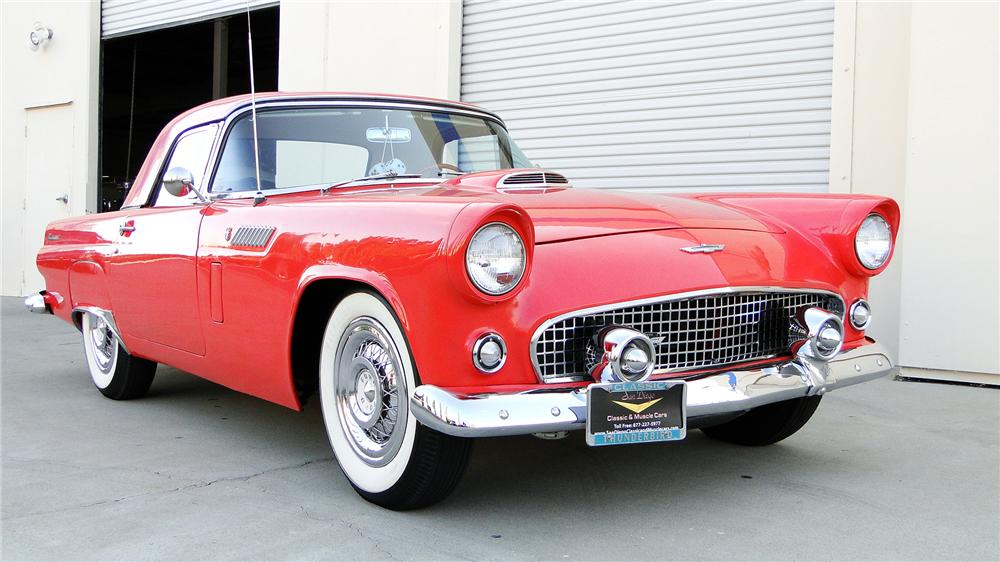 1955 FORD THUNDERBIRD CONVERTIBLE - Front 3/4 - 138109