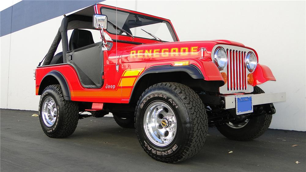 1978 JEEP CJ-5 CONVERTIBLE - Front 3/4 - 138111